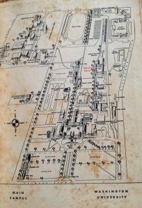 Washington University Campus Map in 1964