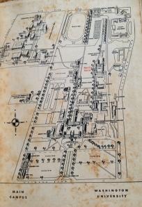 Washington University Campus Map in 1964